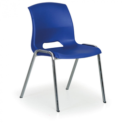 Stapelbarer stuhl cleo, blau
