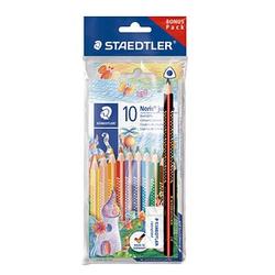 Set: STAEDTLER Buntstifte farbsortiert + Schreiblernstift + Radierer