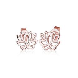 Elli Paar Ohrstecker Lotusblume Blüte Lotus 925 Silber rosa