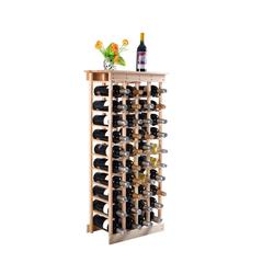 COSTWAY Weinregal Flaschenregal Weinschrank Weinflaschenhalter, aus Holz, für 44 Flaschen natur 28 cm x 113 cm x 47 cm