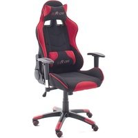 MC Racing 1 Gaming Chair Stoff schwarz/rot