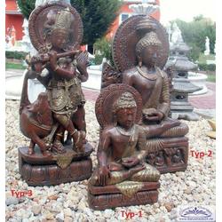 Buddhistische Tempelfiguren Buddhafiguren Tempel Tänzerin als Figurenset (Lieferumfang: Typ-3)