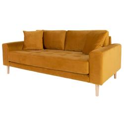 Sofa Dagmarri 180 cm musztardowy welur