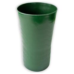 matches21 HOME & HOBBY Blumentopf Grabvase flacher Boden Grabdeko Kunststoff 1 Stk Ø 14x20 cm - grün (1 Stück) grün