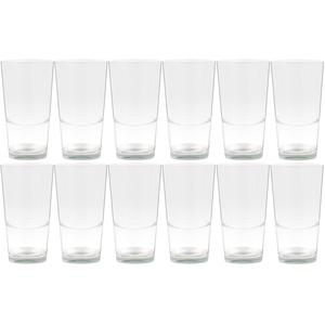 Bormioli 12er Set Latte Macchiato Blancho Glas - 39cl Kaffeeglas stapelbar ohne Dekor