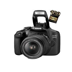 Canon EOS 2000D + EF-S 18-55 F3.5-5.6 IS II Objektiv Spiegelreflexkamera