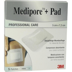 MEDIPORE+Pad 3M 5x7,2cm 3562NP Pflaster 5 St