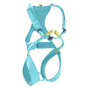 Edelrid Kinderklettergurt Fraggle icemint Gurtfarbe - Blau, Gurtgröße - XXS, Gurtart - Brust-Sitzgurt Set,
