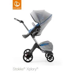 STOKKE® Xplory® V5 Kinderwagen athleisure marina mit Sitz und Einkaufstasche