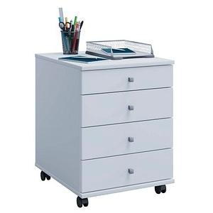 VCM my office Lona Rollcontainer weiß 4 Auszüge