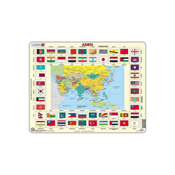 Larsen Puzzle Rahmen-Puzzle, 70 Teile, 36x28 cm, Asien, Puzzleteile