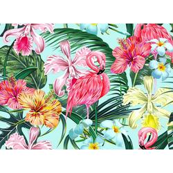 living walls Fototapete Designwalls Flamingo Art 1, glatt, (5 St)
