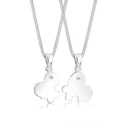 Elli Ketten-Set Partnerkette Swarovski® Kristalle 925 Silber
