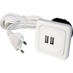 Inprojal elektrosysteme 9016-008.81 2fach USB-Ladesteckdose mit USB IP20 Weiß