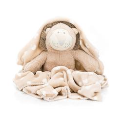 Kinderdecke Plüschtier Set Löwe mit Decke, Fillikid beige