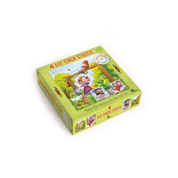 Magellan Puzzle 4 auf einen Streich - Meine Märchenpuzzle-Box mit CD, 100 Puzzleteile, Hergestellt in Europa