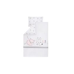 Julius Zoellner Bettwäsche in weiß mit Muster Fuchs und Hase, 100 x 135 cm