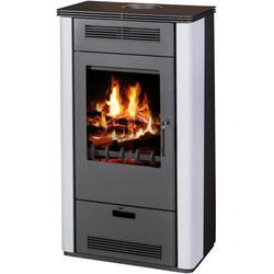 FIREFIX Kaminofen Etna, Stahl, 7 kW, Vermiculite weiß