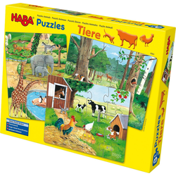 Haba Puzzle 3 in 1 Puzzle-Set Tiere, Puzzleteile