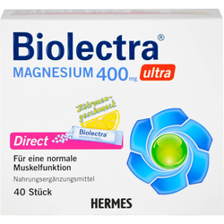 BIOLECTRA Magnesium 400 mg ultra Direct Zitrone 40 St.