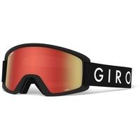 Giro Semi Wintersportbrille Schwarz Kinder Zylindrische (flache) Linse Bernstein