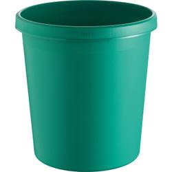 """helit """"the german"""" Papierkorb mit Rand, 18 Liter, Objekt-Papierkorb mit umlaufendem Griffrand, Farbe: grün"""