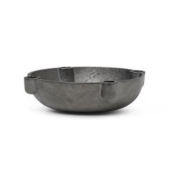 Kerzenhalter Bowl schwarz, Designer ferm LIVING, 3.7x14.6x14.6 cm