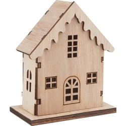 VBS Modellbausatz Haus, 8-tlg, 8 cm x 4,5 cm x 9,5 cm