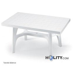 Rechteckiger Tisch aus Harz h7482