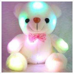 Gotui Badeplüschtier, Bärenpuppe,LED leuchtender Bär,Gefüllte Puppe,Nachtlicht Bär,Plüschtiere,Kleiner Bär