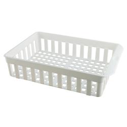 Gies giesline Kühlschrankkorb, weiß, Aufbewahrungskorb geeignet für den Kühlschrank, Maße (L x B x H): 34,5 x 22,5 x 8 cm