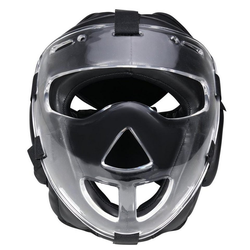 BAY-Sports Kopfschutz Kampfsport Plexiglas Maske Krav Maga Boxen MMA, WP mit abnehmbarer Plexiglas, Vollkontakt, S - XL XL