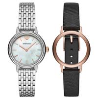 Giorgio Armani Emporio Armani Damen Analog Quarz Uhr mit Edelstahl Armband AR80020