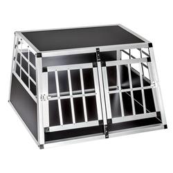 tectake Tiertransportbox Hundetransportbox doppel mit gerader Rückwand 89 x 69 x 50 cm - 69.0 cm x 50.0 cm x 89.0 cm