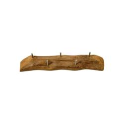 ROG-Gardenline Wandgarderobe, Teak - Mit 5 Haken - 60 cm breit