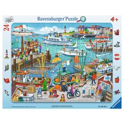 Ravensburger Rahmenpuzzle Ein Tag Am Hafen - Rahmenpuzzle, 25 Puzzleteile bunt