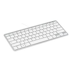 R-Go Compact Tastatur, QWERTZ (DE), weiß, drahtgebundenen