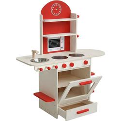 roba® Spielküche Spielküche, natur/rot