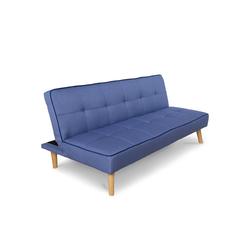 Homestyle4u Schlafsofa, Schlafcouch 97x175 cm ausklappbar blau