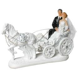 Udo Schmidt Bremen...das Original Spardose Figur Brautpaar in Hochzeitskutsche Hochzeit 21 cm Tortendeko