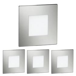 LED Treppen-Licht FEX Treppenbeleuchtung, eckig, 8,5x8,5cm, 230V, blau, 4 Stk.