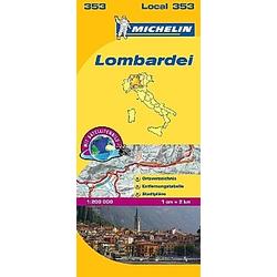 Michelin Karte Lombardei; Lombardia - Buch