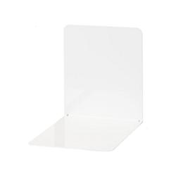 WEDO Buchstütze Buchstützen Metall 14 x 12 x 14 cm blau, 2 Stück weiß