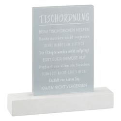 TISCHORDNUNG Aufsteller(BHT 15x21x4 cm)