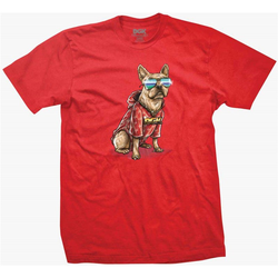 Tshirt DGK - Frenchie Tee Red (RED) Größe: L