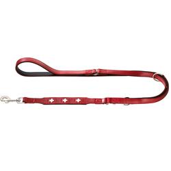 HUNTER Führleine Swiss rot, Breite: ca. 12 mm, Länge: ca. 200 cm - ca. 200 cm