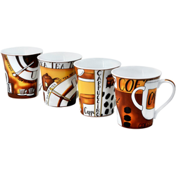 Retsch Arzberg Becher Kaffee (4-tlg), Porzellan