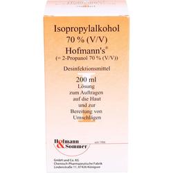 ISOPROPYLALKOHOL 70% V/V Hofmann's 200 ml