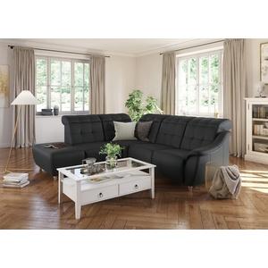 DELAVITA Ecksofa Bostone, Kopfteilverstellung an jeder Sitzfläche, wahlweise Relaxfunktion, auch in Leder schwarz
