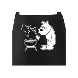 MoonWorks Grillschürze Grill-Schürze für Männer mit grillendem Bär - Bear Grills Moonworks®, mit kreativem Aufdruck